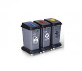塑膠分類回收桶 (3桶套裝連轆)